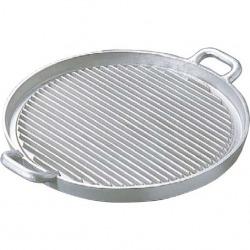 アルミイモノ 丸型 ステーキパン 大 570×460 業務用 写真1