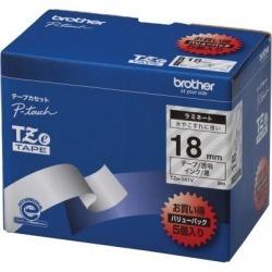 TZeテープ ピータッチ専用テープ(透明テープ/黒字) 18mm 5個入 写真1