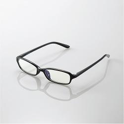 ブルーライトカット眼鏡/クリアレンズ/スクエアフレーム/ブラック 写真1