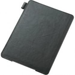iPad 2013/レザーカバー/4アングルタイプ/ブラック 写真1