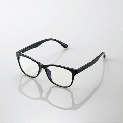 ブルーライトカット眼鏡/クリアレンズ/ウェリントンフレーム/ブラック 写真1
