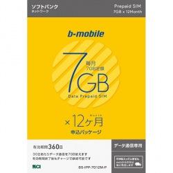 b-mobile 7GB×12ヶ月SIM(SB)申込パッケージ 写真1