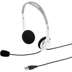 USBヘッドセット(ホワイト) 写真1