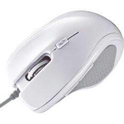 有線マウス ブルーLED 5ボタン ホワイト 写真1