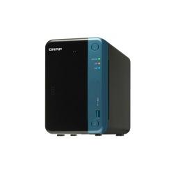 単体モデル 2ベイ NAS QTS搭載 クアッドコア1.5GHz 4GB 静電容量方式タッチボタン 写真1