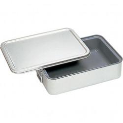 アルマイト 角型二重米飯缶 (蓋付) (内面スミフロン)264-DS 業務用 写真1