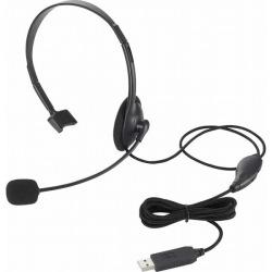 USBヘッドセットマイクロフォン/片耳オーバーヘッド/1.8m 写真1