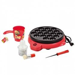 【セット買い】たこ焼き4点セット 電気式たこ焼き器18穴 D-0631 かくはんできる粉つぎ D-0405 たこ焼き針 D-0403 油引きセット D-0412 写真1