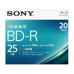 ビデオ用BD-R 追記型 片面1層25GB 4倍速  ホワイトプリンタブル 20枚パック 写真1