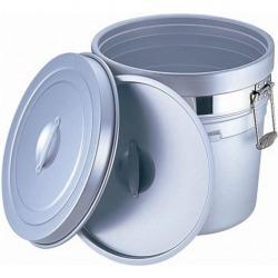 アルマイト 段付二重食缶 (大量用) 250-S (36l) 業務用 写真1