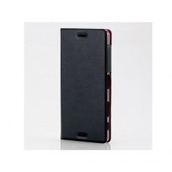 Xperia X Performance/SO-04H/SOV33/レザーケース/薄型/マグネット付/ブラック 写真1