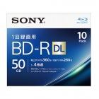 ビデオ用BD-R 追記型 片面2層50GB 4倍速 ホワイトプリンタブル 10枚パック
