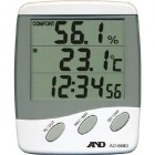 時計付き 温湿度計 AD5680