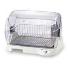 食器乾燥器 〈サラピッカ〉 温風式 トレイ付き ホワイト