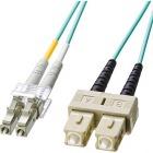 OM3光ファイバケーブル LCコネクタ-SCコネクタ 5m HKB-OM3LCSC-05L