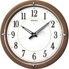 ファインライトNEO 自動点灯木枠アナログ電波掛時計(茶)