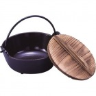 IK電調専科 深型鍋(内茶ホーロー仕上) 16cm