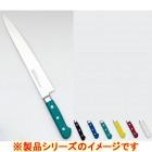 堺實光 STD抗菌PC 筋引(両刃) 24cm 青 56011