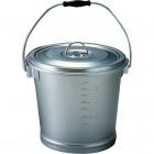 アルマイト 丸型一重食缶 214 (12l) 業務用
