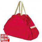 コンパクトバッグ L レッド | エコバッグ 買い物 レジかご お出かけ サイドバッグ スーパー コンパクト