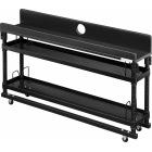 ナイトテーブル ブラック 幅 97cm × 奥行き 22cm × 高さ 59.5〜80cm 昇降式ヘッドボード
