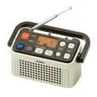 3バンドラジオ付ワイヤレス手元スピーカー (シャンパンゴールド)