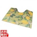 スキマにピタっトイレマット(丸巻き) 55×60 レモングリーン