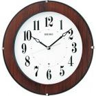 木枠スタンダード電波アナログ掛時計(濃茶) KX392B