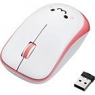 IRマウス/ENELOシリーズ/静音ボタン/無線/3ボタン/省電力/ピンク