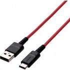スマートフォン用USBケーブル/USB(A-C)/高耐久/2.0m/レッド