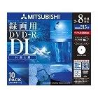 録画用DVD-R 2層 215分 8倍速対応 ワイド印刷エリア CPRM対応 5mmスリムケース入り10枚