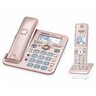 コードレス電話機(子機1台付き)(ピンクゴールド)