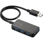 USBハブ USB3.0 バスパワー タブレット向け 4ポート ブラック