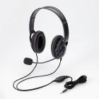 4極ヘッドセットマイクロフォン/両耳/オーバーヘッド/40mm/ブラック