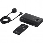 HDMI切替器 3台用 リモコン付 取付ネジ付 フルHD/3D対応