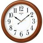 木枠スタンダード電波アナログ掛時計(丸・茶) KX388B