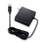 ノートPC用ACアダプター/Type-C/PD対応/57W/ケーブル一体型/USB1ポート/2m/ブラック