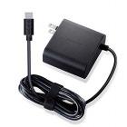ノートPC用ACアダプター/Type-C/PD対応/65W/ケーブル一体型/2m/ブラック