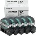 「テプラ」PROカートリッジ 透明ラベル 12mm×8m巻 黒文字 5個入エコパック