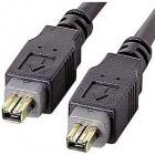 IEEE1394ケーブル (4pin-4pin・4.5m・ブラック)