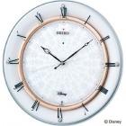 ディズニーMickey&Minnie電波掛時計(白) スワロフスキークリスタルガラス使用
