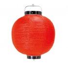 丸 ビニール提灯 無地 9号 赤 直径240×H350