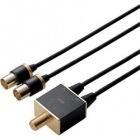 アンテナ分波器/4K8K対応/ブラック