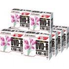 DATA用DVD-R(4.7GB/1-16倍速対応/1回記録/ワイド印刷可能レーベル/5mmケース入り) 10枚組×10個(100枚)