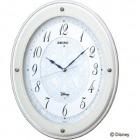 ディズニーPRINCESS電波掛時計(白) スワロフスキークリスタルガラス使用