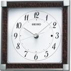 木目模様電波アナログ置時計(茶) BZ236B