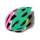 レディースヘルメット DHL271-BL (ブルー・ピンク) | 自転車 女性 サイクリング ロードバイク 軽量 アジャスター ベンチレーション