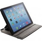 iPad Air 2/ソフトレザーケース/4段階調節/ブラック