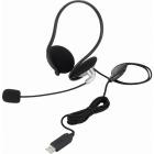 USBスヘッドセットマイクロフォン/両耳ネックバンド/1.8m