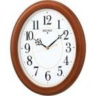 木枠スタンダード電波アナログ掛時計(楕円・茶) KX390B